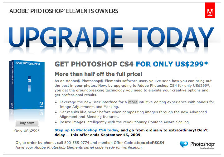 Photoshop offer