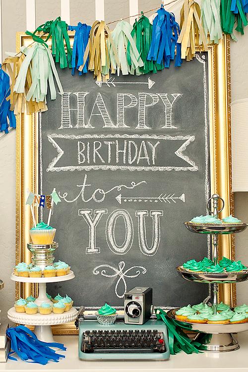 Birthday Party Decor Amp Chalk Art Maggie Holmes