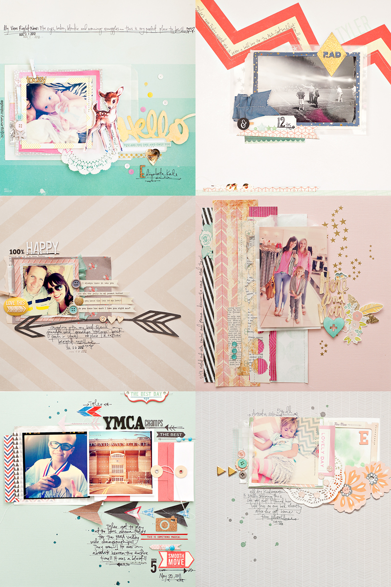 Maggie Holmes Scrapbook Layouts