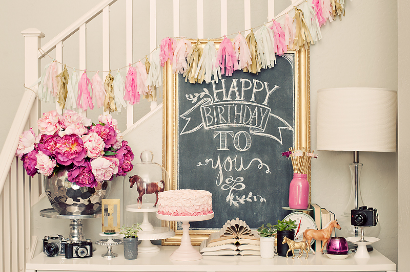 Pink Birthday Party Decor Maggie Holmes Photography And